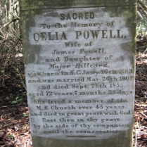 Celia Powell, Travelers Rest Cemetery, Montezuma, GA (from Findagrave.com)