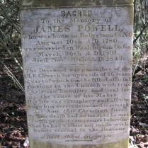 James Powell, Travelers Rest Cemetery, Montezuma, GA (from Findagrave.com)